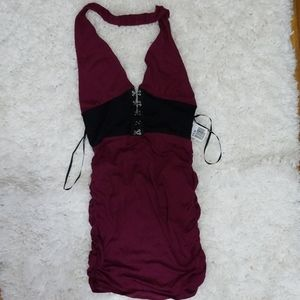 NEW W/TAGS - Forever 21 - Burgundy Open Back Dress